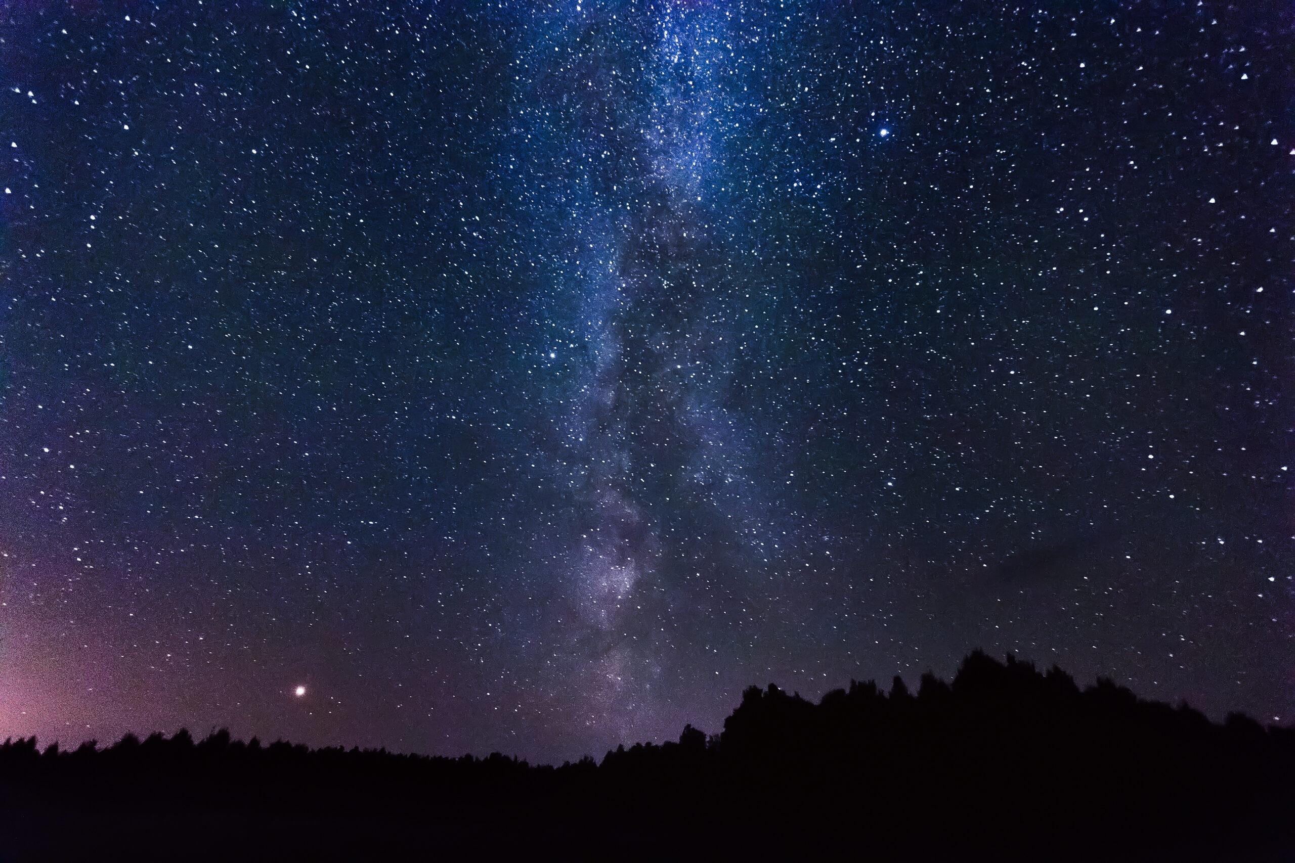 gwieździste niebo, gwiazdy, noc, natura