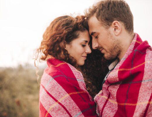 Romantyczna para, kobieta, mężczyzna, natura